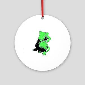 Green Rat Ornament (Round)