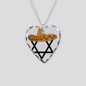 A Jew and a Mexican Star of S Necklace Heart Charm