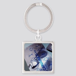 Hypertension tablets Square Keychain