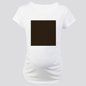 Dark Brown Maternity T-Shirt