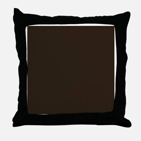 Dark Brown Throw Pillow