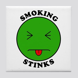 Smoking Stinks Tile Coaster
