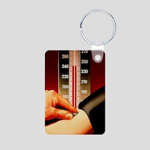Illustration of blood pres Aluminum Photo Keychain