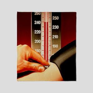 Illustration of blood pressure measu Throw Blanket
