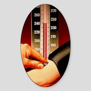 Illustration of blood pressure meas Sticker (Oval)