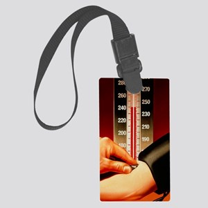 Illustration of blood pressure m Large Luggage Tag