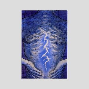 Illustration of back pain Rectangle Magnet