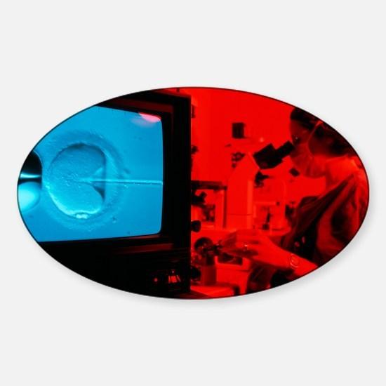 In vitro fertilisation Sticker (Oval)