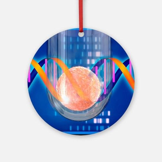 In vitro fertilisation Round Ornament