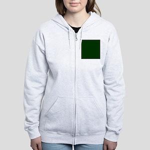 Dark Green Women's Zip Hoodie