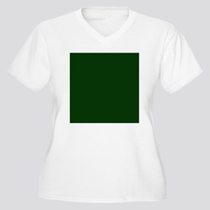 Dark Green Women's Plus Size V-Neck T-Shirt