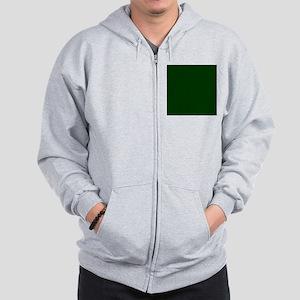 Dark Green Zip Hoodie