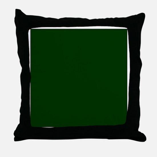 Dark Green Throw Pillow