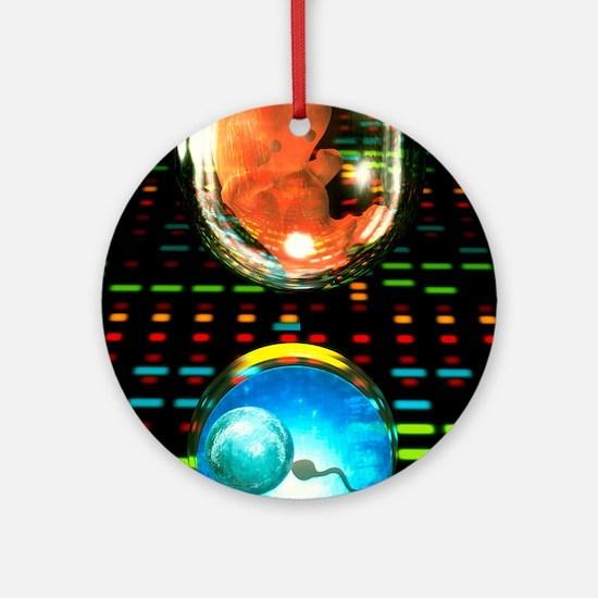 In vitro fertilization Round Ornament