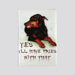 Doberman Humor Rectangle Magnet