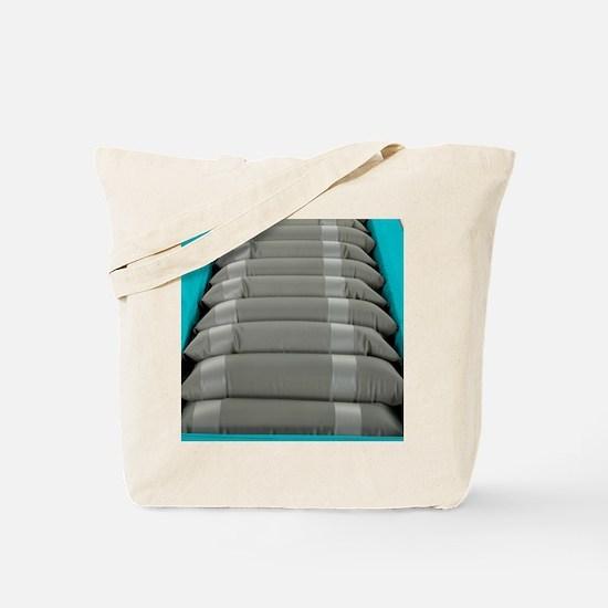 Inflated hospital air mattress Tote Bag
