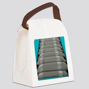 Inflated hospital air mattress Canvas Lunch Bag