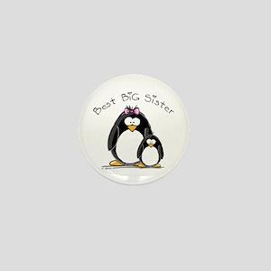 Best Big Sister penguins Mini Button