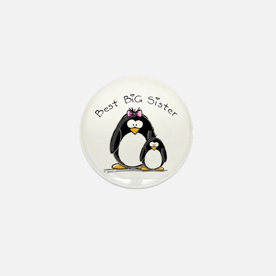 Best Big Sister penguins Mini Button