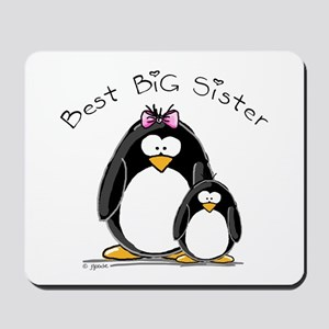 Best Big Sister penguins Mousepad