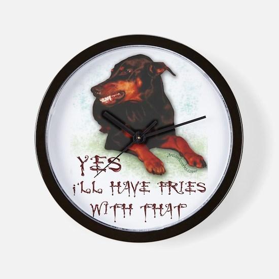 Dog Humor Wall Clock