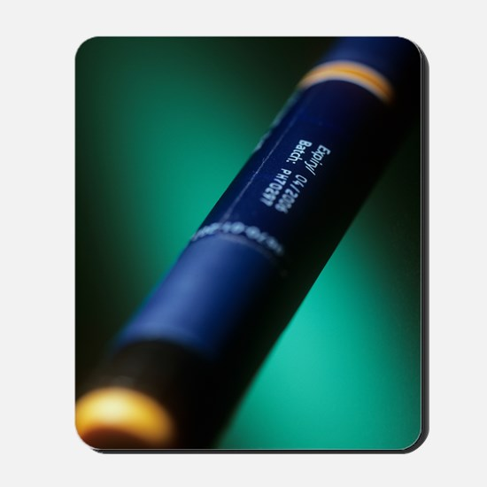Insulin pen Mousepad