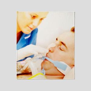 Intensive care patient Throw Blanket