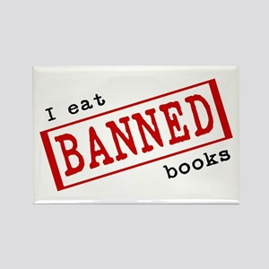 Banned Books Rectangle Magnet