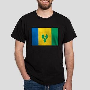 Saint Vincent Flag Dark T-Shirt