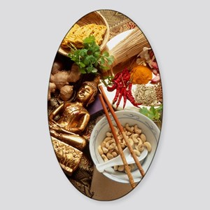 Ingredients for cooking Thai food Sticker (Oval)