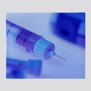 Insulin pen needle Throw Blanket