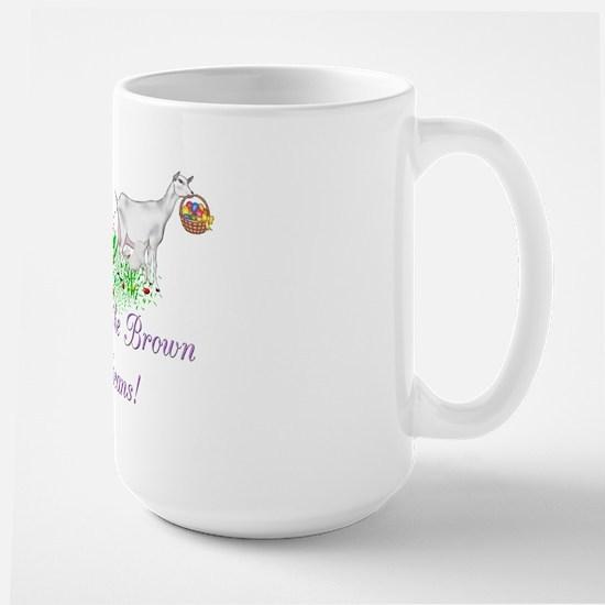 Saanen-GOAT-Brown JellyBeans Large Mug