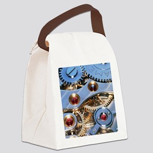 Internal cogs and gears of a 17-j Canvas Lunch Bag