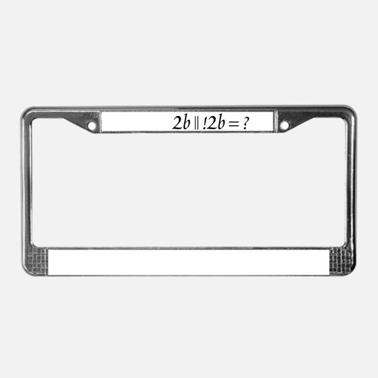 2b || !2b License Plate Frame