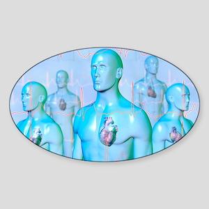 Irregular heartbeat Sticker (Oval)