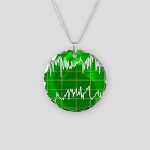 Irregular heartbeat Necklace Circle Charm