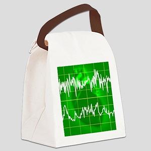 Irregular heartbeat Canvas Lunch Bag