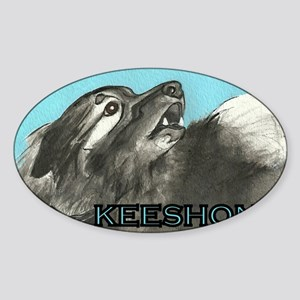 Keeshond Sticker (Oval)