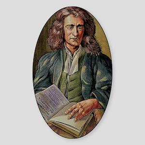 Isaac Newton Sticker (Oval)