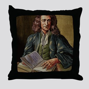 Isaac Newton Throw Pillow