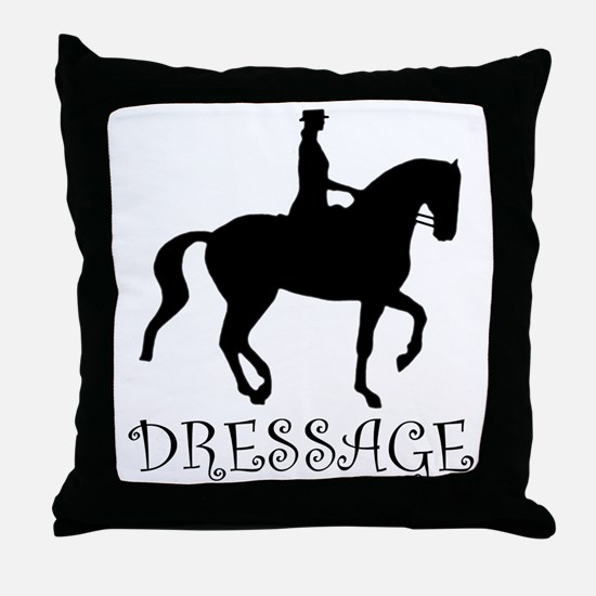 dressage silhouette Throw Pillow
