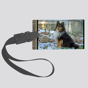 Tri-Color Sheltie Large Luggage Tag
