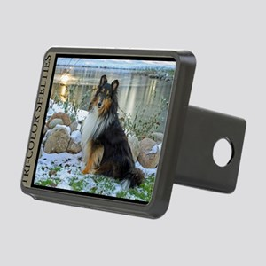 Tri-Color Sheltie Rectangular Hitch Cover