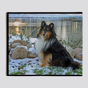 Tri-Color Sheltie Throw Blanket