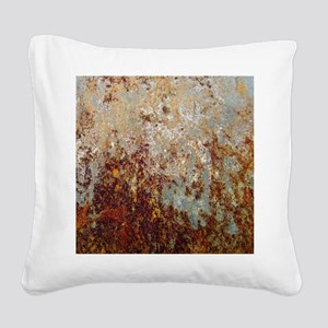 Rust Square Canvas Pillow