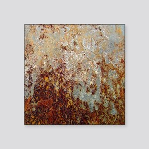 "Rust Square Sticker 3"" x 3"""