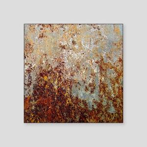 "Rust Square Sticker 3"" x 3"""