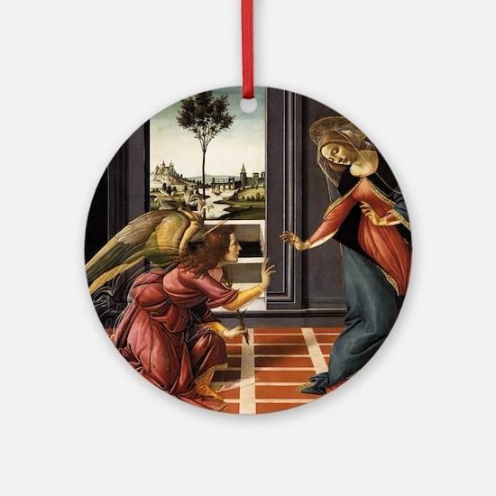 Cestello Annunciation - Botticelli Round Ornament