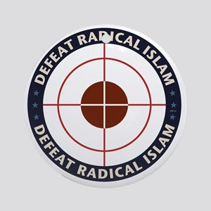 Defeat Radical Islam Round Ornament