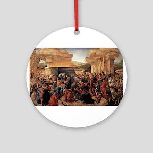Adoration of the Magi 2 - Botticelli Round Ornamen